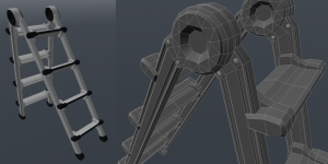 In furnitures details are added as actual geometry asset authoring Asset authoring DroneAlone31 300x150