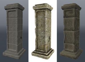 Stone pillar model Fire material Fire material FireShowcase02 300x219
