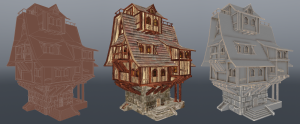 Medieval house model Fire material Fire material FireShowcase07 300x124