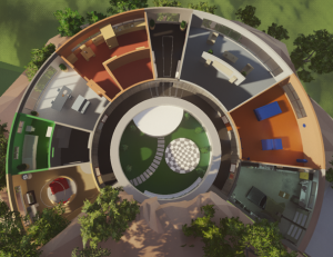 The top-down view of the house development Development TopDownHouse 300x231